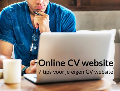 Online CV website maken: 7 Tips