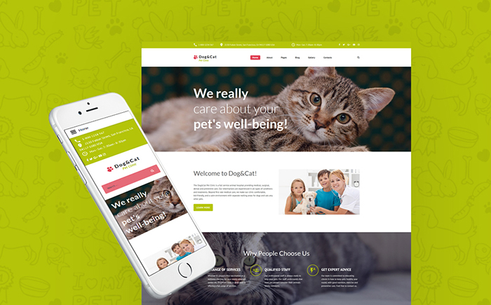 Dog & Cat - Pet Clinic Responsive Joomla Template