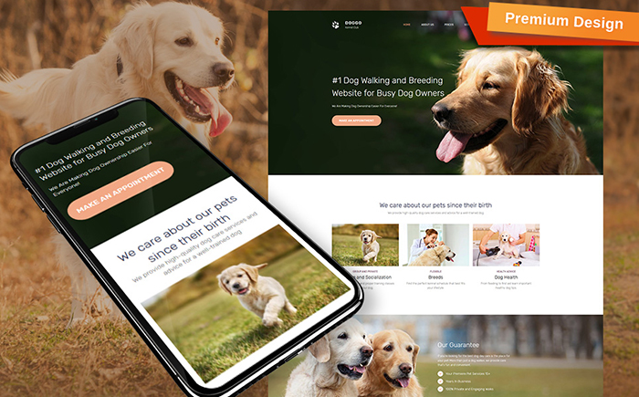 DOGGO - Kennel Club Premium Moto CMS 3 Template